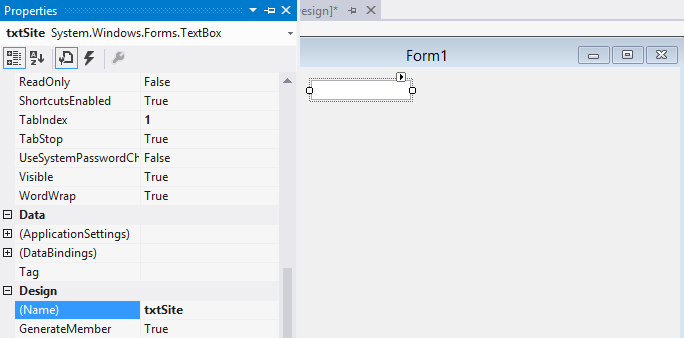 Form1 - TextBox Properties
