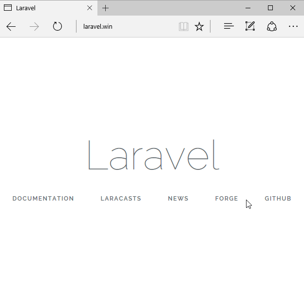 Laravel 5.3 Default Screen