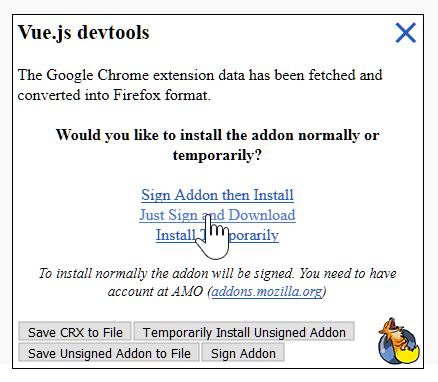JimFrenette com | vue-devtools Chrome Extension in Firefox