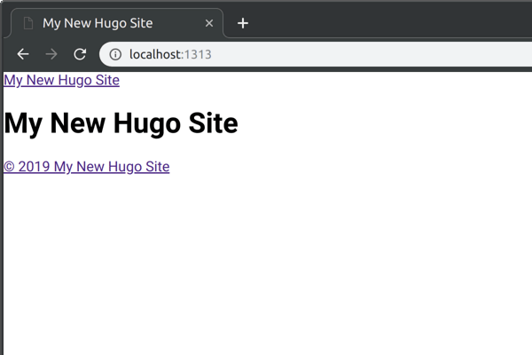 My New Hugo Site