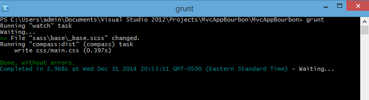 Windows PowerShell – Grunt Compass