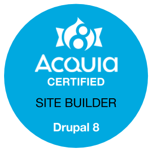 Acquia Certified Site Builder - Drupal 8 Badge